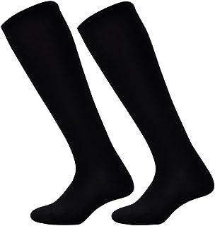 Bobury, Bobury Los niños de los Muchachos Calcetines Largos absorben con el Sudor de la Rodilla del algodón del tamaño Delgado de poliéster Calcetines de fútbol Gratuito