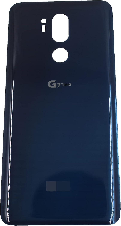 Blue Rear Battery Cover Glass Housing Cover with LG G7 ThinQ G710ULM G710VMX G710PM LMG710TM