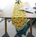 LLZK Cotone e Lino Semplice Runner Moderna Piccolo Fresco corridori della Tabella Portico Tabella Bandiera Decoration (Colore : Yellow, Taglia : 30×160cm)