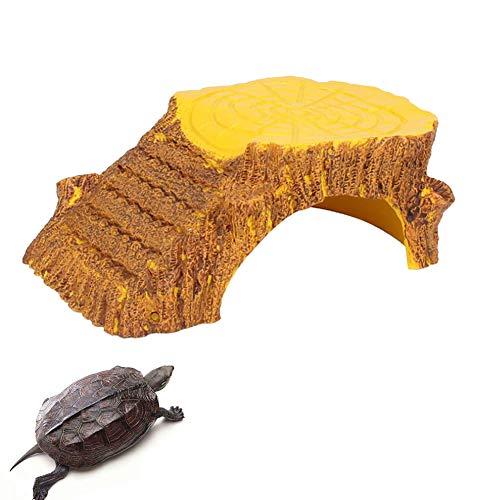 POPETPOP Reptil Ocultar Resina Grande Cueva + Plataforma Escalada Escalera Acuario...