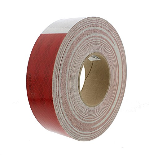 3M 22494 Red and White Reflective Tape - 2' x 150'