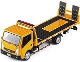zeyujie 1: 32 Modèle de Simulation de véhicule de Transport en ingénierie métallique Jouet Alliage Enfant remorque Sauvetage dépanneuse remorque modèle de Voiture en Alliage de Route