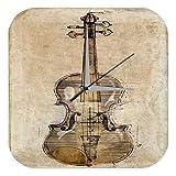 Wanduhr mit geräuschlosem Uhrwerk Dekouhr Küchenuhr Baduhr Star Deko Nostalgie Geige Acryl Fun Uhr Vintage Retro