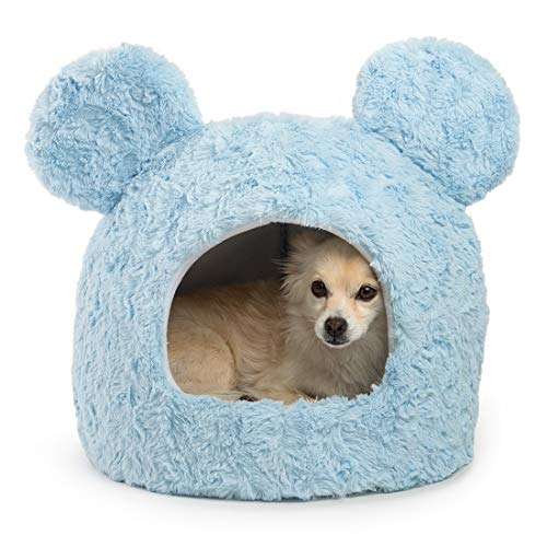 Disney Mickey Mouse and Minnie Mouse Pastel Shag Fur Dog and Cat Hut