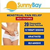 Sunny Bay Menstrual Heating Pad: (Pack of 20) Adhesive Period Pain and Cramp Heat Patches,...