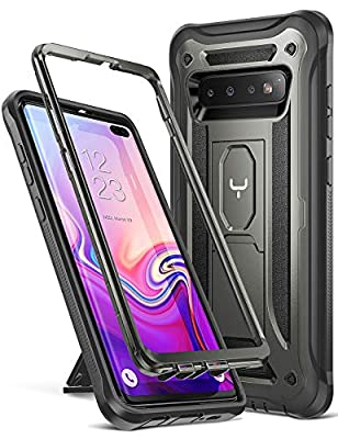 YOUMAKER Kickstand Case for Galaxy S10+ Plus, Heavy Duty Protection Full Body Shockproof Slim Fit Without Built-in Screen Protector Cover for Samsung Galaxy S10 Plus 6.4 inch (2019)