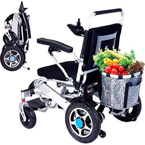 Elektrischer Rollstuhl scooter Faltbar leicht mit joystick, 20Ah Lithium-Akku Reise-Leichter motorisierter Rollstuhl-Medizinischer Roller für ältere und behinderte Menschen der Driving Range-25KM