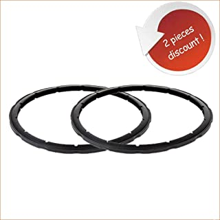 Steam Pressure Seal Pressure Cooker Sealing Ring Replacement for SEB Tefal Clipso 2 Pieces 4-5-6 Liter