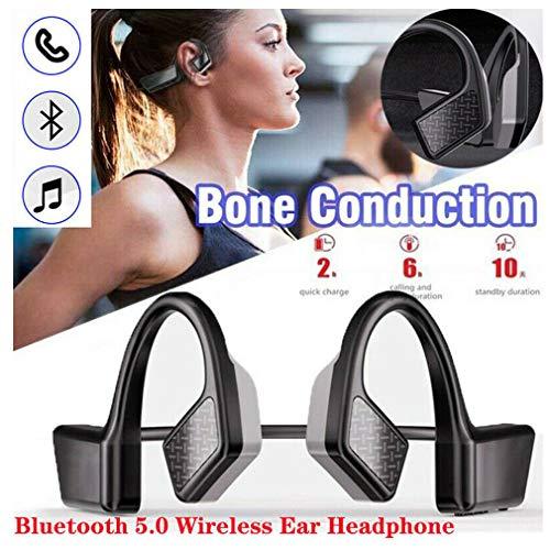 Zooarts Bone Conduction Headset Bluetooth 5.0 Outdoor Sport Wireless Open Ear Headphone, Auriculares de conducción ósea inalámbricos e Impermeables, con diseño Open-Ear