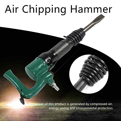 Pneumatic Hammer, 25mm Bore Powerful Diameter Air Chipping Hammer 35Hz Wear Resistance for Soldering Point Grinding(C4)