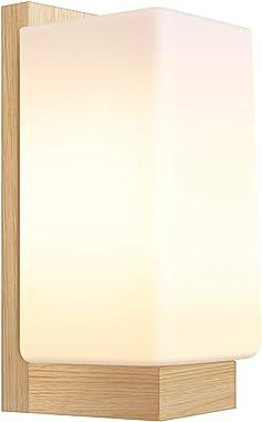 Applique Murale Lampe Murale Scandinave en Bois Style Simpe pour Chevet Salon Escalier Couloir