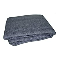 Breathable Caravan Awning Carpet Weaveatex Motorhome Tent Groundsheet Matting - Blue/Grey
