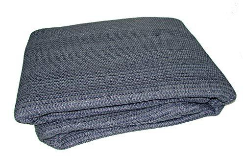 Breathable Caravan Awning Carpet Weaveatex Motorhome Tent Groundsheet Matting - Blue/Grey (2.5m x...