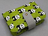 Portapañales Funda Para Pañales y Toallitas Bebé Neceser Pandas