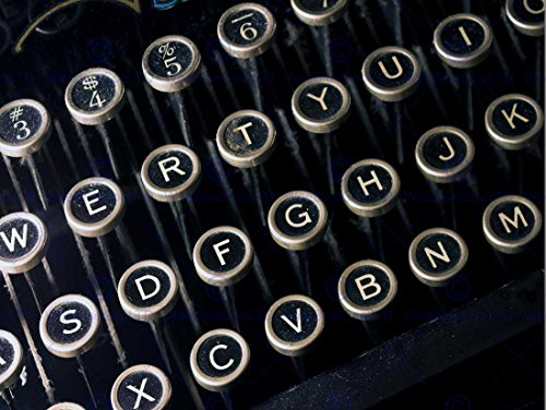 Photo Detail Antique Retro Vintage Typewriter Keyboard Art Print Poster Foto Antiquität Jahrgang TAFEL Kunstdruck