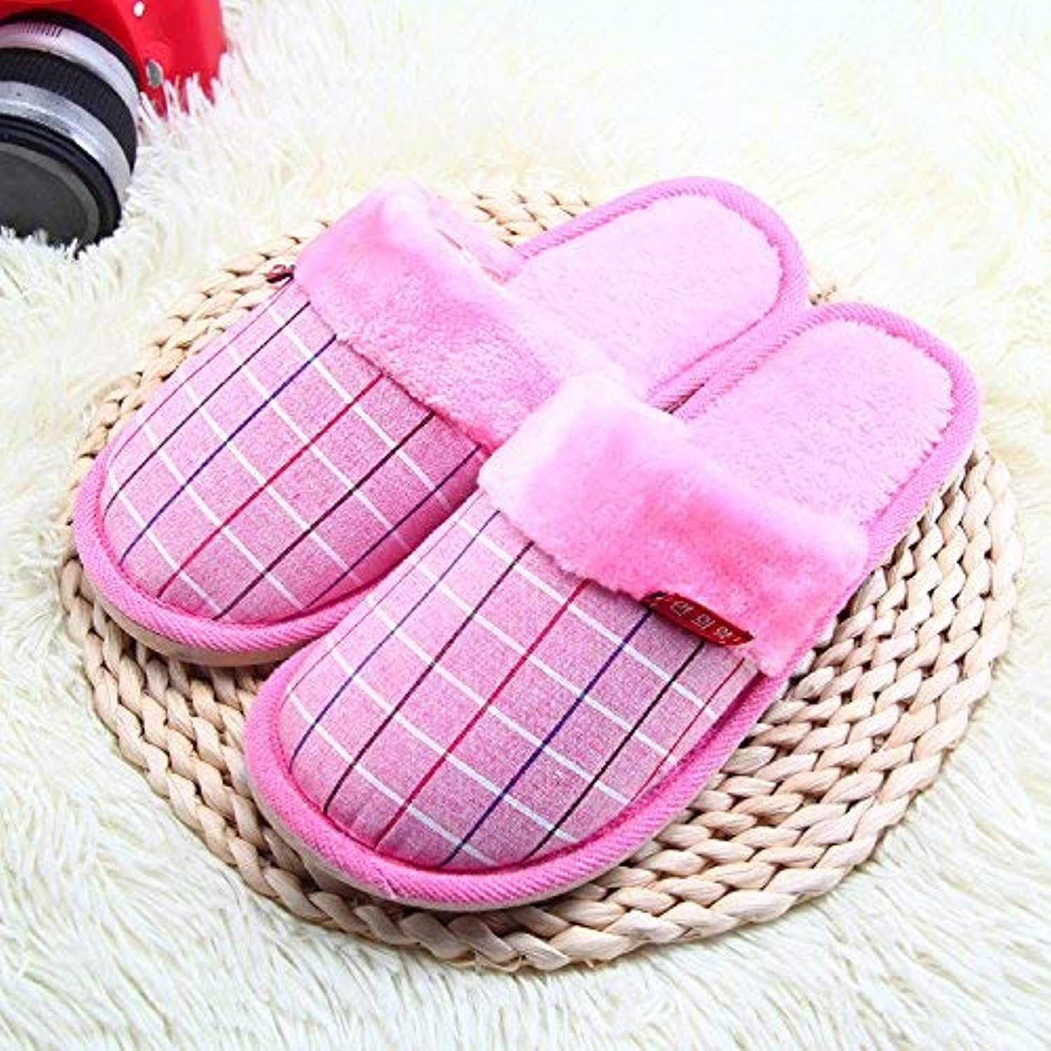 JaHGDU Women Home Slippers Interior Keep Warm Non-Slip Padded Slippers Pink Large Fashion Slippers for Women