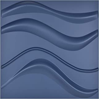 Art3d Navy Blue 3D Wall Panel PVC Slim Wave Cover 32 Sqft, for Interior Wall Décor in Living Room,Bedroom,Lobby,Office,Shopping Mall