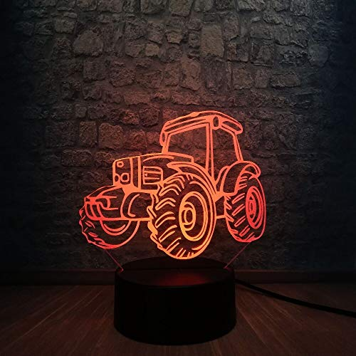 3D LED Beach Light Sand Vehicle 7 Color Variable Night Light for Home Stylish Boy Car Fan Decoration for Birthday Gift