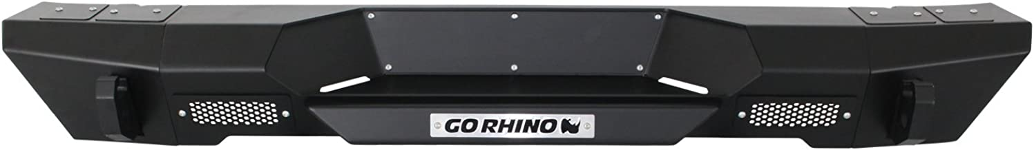 Go Rhino 27110T Textured Black Bumper (with Bolt-On Stubby End Caps Jeep Wrangler JK Rear)