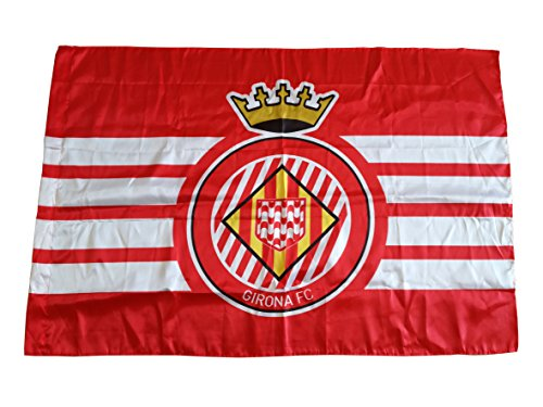 Girona FC Badgir vlag, wit/rood, eenheidsmaat