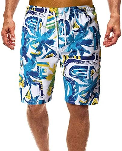 CZYHP courtes Pour des hommes maillot de bain Quick Drying Hommes plage courtes Swim Surf Swimming courte été plagewear M bleu