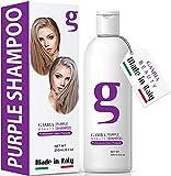 Gamba Purple Shampoo For Blonde Hair - Italian Made Blonde Shampoo Removes Unwanted Yellow Tones - Quickly Lighten Blonde Hair, Silver, Ash, Platinum and Grays - 100% Paraben Free Purple Shampoo, Silver Shampoo