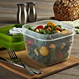 Fit & Fresh Salad Shaker Reusable Plastic Container with Dressing Dispenser and...