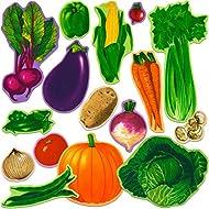 Little Folk Visuals Vegetables Precut Flannel/Felt Board Figures, 16 Pieces Set