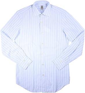 [42] [FINAMORE] フィナモレ 長袖シャツ メンズ ブルー 青 大きいサイズ [20469] [並行輸入品]