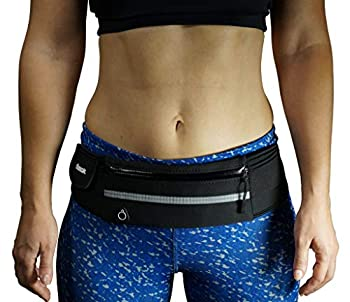 Dimok Running Belt Waist Pack - Water Resistant Runners Belt Fanny Pack for Hiking Fitness – Adjustable Running Pouch for Phones iPhone Android