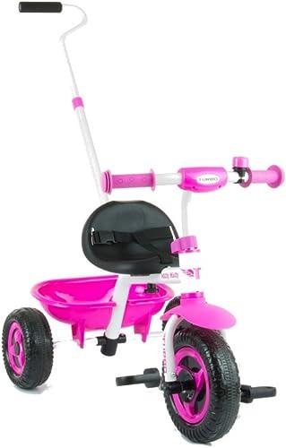 MillyMally Turbo Tricycle avec Cadre en métal Stable sécurisée (Rose)
