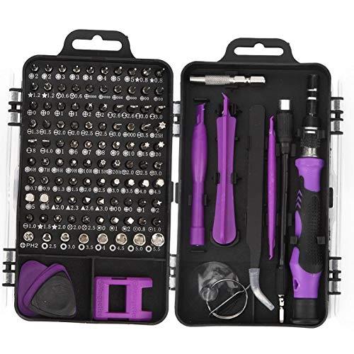 Leftwei Herramienta de eliminación de teléfonos de Alta confiabilidad, Punta de Destornillador Duradera de Cinco Colores, Alta eficiencia para Reparar teléfonos(Purple)