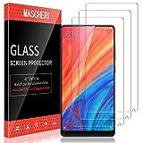 MASCHERI Schutzfolie für Xiaomi Mi Mix 2s, Xiaomi Mi Mix 2s Panzerglas [3 Stück] [Fingerabdruck-ID unterstützen] Xiaomi Mi Mix 2s Bildschirmschutz Glas Bildschirmschutzfolie