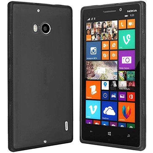 moodie Schutzhülle für Nokia Lumia 930 Hülle - Silikonhülle Case Schutzhülle Cover für Nokia Lumia 930 (Schwarz-transparent)