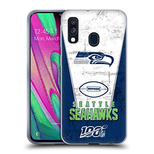 Head Case Designs Offizielle NFL Banner 100ste 2019/20 Seattle Seahawks Soft Gel Handyhülle Hülle Huelle kompatibel mit Samsung Galaxy A40 (2019)