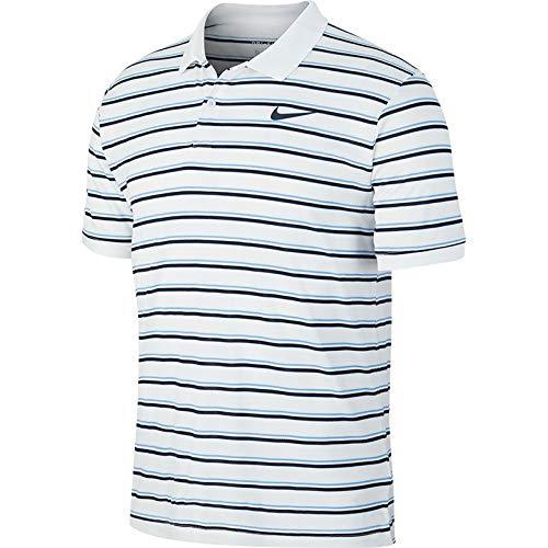 Nike M Nkct Dry Pq Polo Gx Short Sleeve, Homme, White/Obsidian