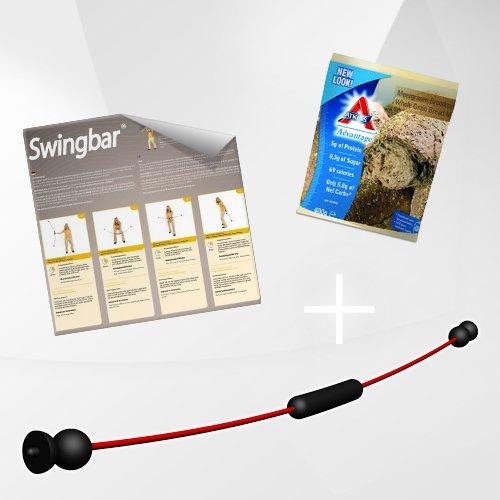 NEU Swing Stick PREMIUM mit 2 Schwierigkeitsstufen, Made in Germany, Trainingsposter