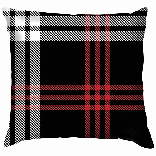 Moily Fayshow Plaid Weave Pixel Texture Beauty Fashion Pillow Case Throw Pillow Cover Square Cushion Cover 16X16 Inch