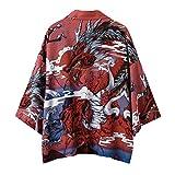 Japanischer Kimono Sommer Kleidung - Traditionelles Haori Kostüm Robe Überjacke Sonnenschutz Jacke Antiker Stil Nachthemd Bademantel Nachtwäsche für Damen Herren