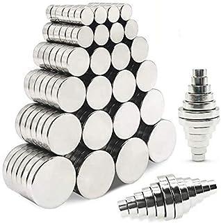 超強力 磁石 マグネット 120個枚セット小型 多用途 丸形磁石 冷蔵庫マグネット オフィス 学校使用する,小型丸ディスクマグネット,6サイズ(5x3、6x3、8x3、10x3、12x3各20)