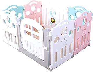 Plastic Baby Playpen With Activity Panel  Kids Activity Centre Safety Play Yard  Foldable Room Divider Child Barrier  Size 100x120x70cm