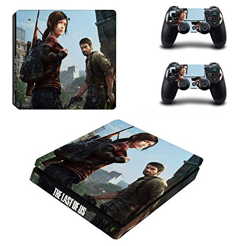 Playstation 4 Slim Skin Set - The Last of US HD Printing Vinyl Skin Cover Protective for PS4 Slim Gaming Console and 2 PS4 Controller by Mr Wonderful Skin