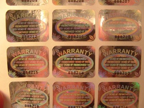Garantie erlischt Hologramm Etiketten Aufkleber 1000Silber Etiketten–Einzigartiger Seriennummer pro jedes Etikett