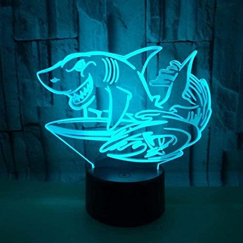 Boutiquespace Coole Vatertagsgeschenk - Lámpara de techo (3D, USB, 7 unidades), diseño de flores