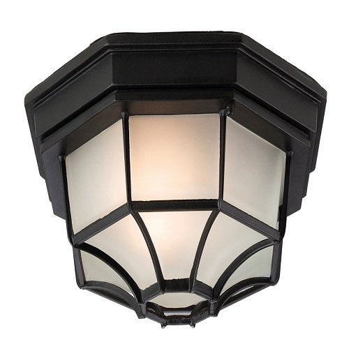 Firstlight lantaarn met 8 zijden voor inbouw E27 IP43 1 x 60 Watt zwart