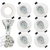 LED Spots Encastrables, Blanc Froid 6000K,600lm Plafonnier Encastré,5W Equivalente...