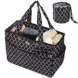 NICOGENA Travel Knitting Bag, Large Capacity...