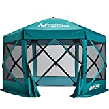 MASTERCANOPY Escape Shelter Screen House Outdoor Camping Tent for 6 Sides Canopy Shelter(150''x150''Emerald Green)