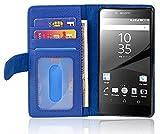 Cadorabo Funda Libro para Sony Xperia Z5 Premium en Azul Real - Cubierta Proteccíon con Cierre Magnético e 3 Tarjeteros - Etui Case Cover Carcasa