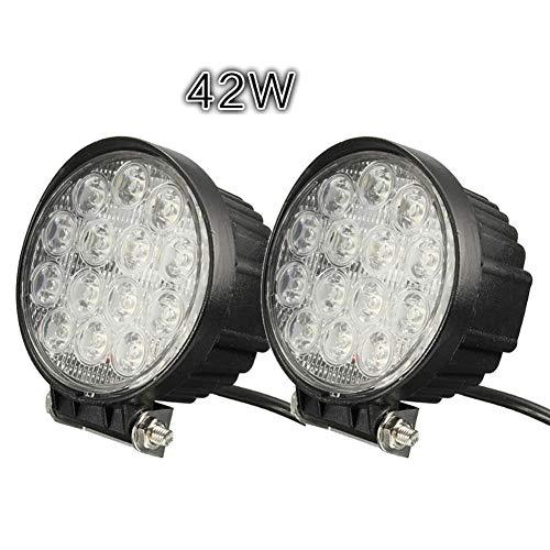 PoJu Lumières d'inspection de voiture cross country lumières 4 pouces 42W boîtier en alliage d'aluminium imperméable inspection lumières remonter des cas en alliage d'aluminium étanche (paire)